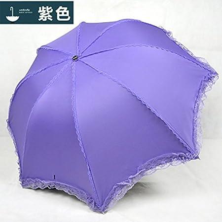 WFYJY-De la Broderie Petite Fleur Parasol Solaire Anti UV de la Dentelle de Parasol
