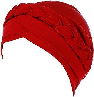 XUANOU Women India Hat Muslim Solid One Tail Chemo Beanie Scarf Turban Warm Wrap