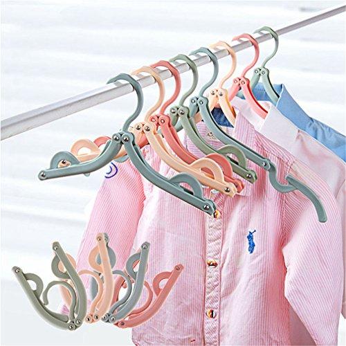 MIAOQUTONG 3Pcs/Set Eco-Friendly Foldable Clothes Hangers Dr