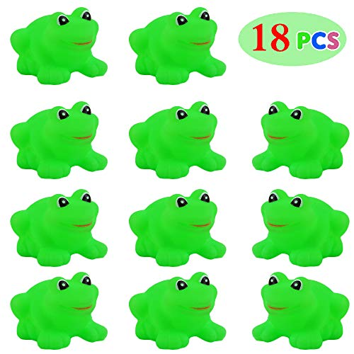 ZLIXING Passover Plagues, 18 Pieces Passover Frogs Toys Green Plastic Frogs Passover Gifts for Kids Boys Girls -
