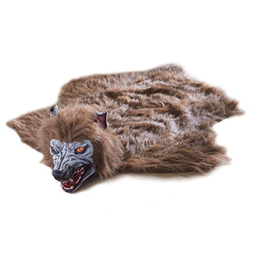 Scary Peeper Fright At First Sight Animated Werewolf Rug