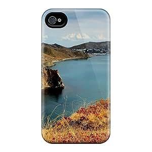 Pretty JCdEkiG3467xNzUW Iphone 4/4s Case Cover/ Bird Flying Over Sea Cliffs Series High Quality Case