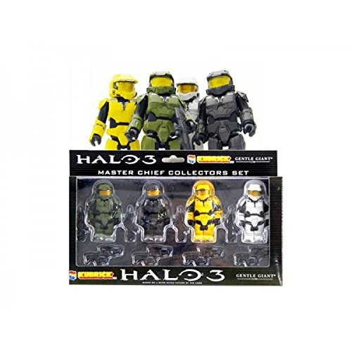Halo 3 Master - HALO 3 Kubricks MASTER CHIEF 4 Figure LEGO Boxed set - RARE!