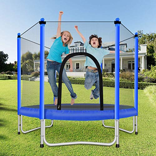 Fashionsport OUTFITTERS Trampoline with Safety Enclosure -Indoor or Outdoor Trampoline for Kids-Blue-5FT by Fashionsport OUTFITTERS (Image #2)