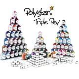 Polystar Triple Play Embroidery Thread Package w/ 42 Country Color 1,100 Yard Embroidery Threads, 23 Nick Color 1,100 Yard Embroidery Threads and FREE!!! 144 Prewound Bobbins Style SA156 / 15J