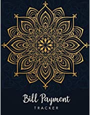 Bill Payment Tracker: Mandala Cover | Simple Monthly Bill Paying Checklist Organizer Planner Log Book | Money Debt Tracker Keeper Budgeting | Household Expense Tracker