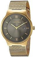 Bulova Men's Quartz Stainless Steel Casual Watch, Color:Gold-Toned (Model: 44B110)