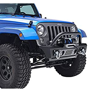 Green Mars Front Bumper with Two D-ring for Jeep Wrangler JK 07+