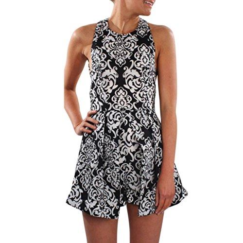 Hot!!Damen Kleid Jumpsuit Internet Gedruckte Clubwear Playsuit figurbetonten Overalls