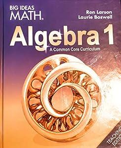 Big Ideas Math Algebra 1 book by Ron Larson