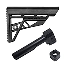 Worker Mod Modification Shoulder Stock Kits with Adapter Model A for Nerf Elite STRYFE Modify Toy Color Black