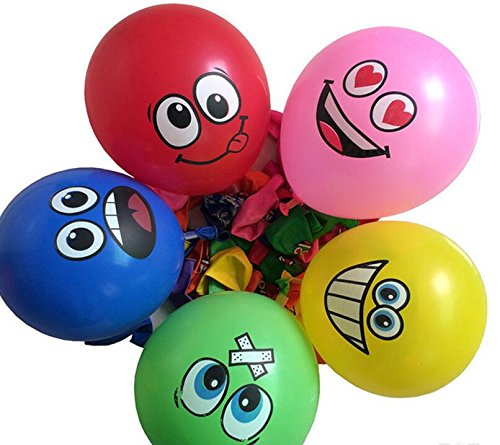 FunsLane Balloons Expression Assorted Birthdays
