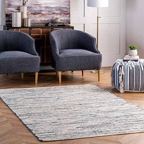 nuLOOM Maile Denim Stripes Area Rug - a good cheap living room rug