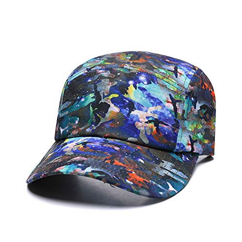 Lightweight 5 Panel Cap with Snap Closure,Galaxy Abstract Painting Adjustable Baseball Hat New Strapback Dad Camp Snapback