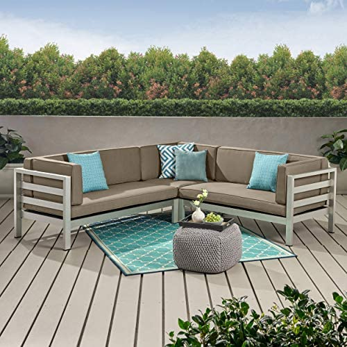 Christopher Knight Home 311699 Olive Outdoor 5 Seater Sectional Sofa