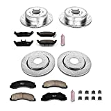 Power Stop K3166 Front and Rear Z23 Evolution Brake Kit with Drilled/Slotted Rotors and Ceramic Brake Pads
