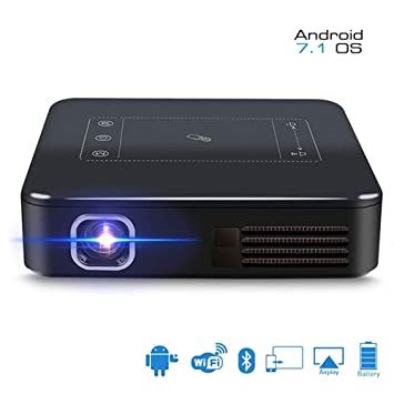 Proyector HD, Mini Proyector Bluetooth Micro 1080P para ...