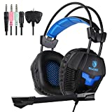 Sades SA921 Game Headphones with Mic Gaming Headset for PS4 Xbox360 Xbox one PC Smart Phone Laptop Mobile phones(Black)