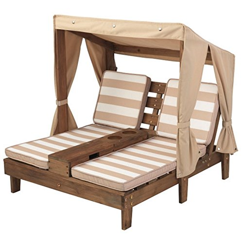 - KidKraft Double Chaise Lounge with Cup Holders