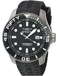 Invicta Mens TI-22 Automatic Titanium and Silicone Casual Watch, Color:Black (Model: 20519)