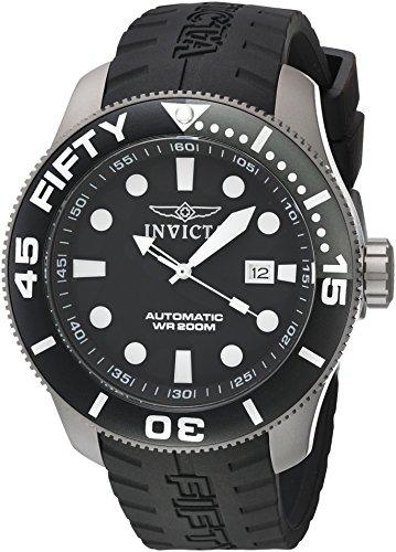 Invicta Men's 'TI-22' Automatic Titanium and Silicone Casual Watch, Color:Black (Model: 20519)