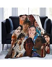 Charlie Gillespie foto collage flanellen deken geschikt voor slaapbank kantoor reizen volwassen zachte beddengoed fleece deken