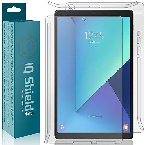 IQShield Matte Full Coverage Full Body Skin + Anti-Glare Screen Protector for Samsung Galaxy Tab A 10.1 (SM-T510, 2019) Anti-Bubble TPU Film