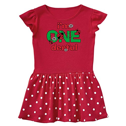 inktastic - Onederful Ladybug 1st Infant Dress 12 Months Red and Polka Dot 38fb