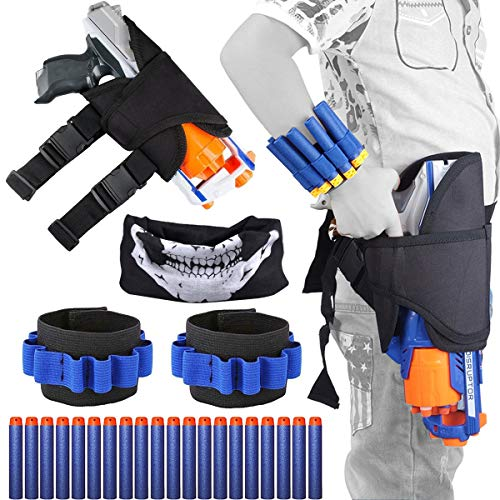 Kids Tactical Nerf Waist Bag Holster Kit For Nerf Gun N-strike Elite Series Blaster 24 Pieces, Include Holster Waist Bag,...