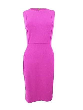 c14361f2 Calvin Klein Women's Scuba Crepe Sleeveless Princess Seam Sheath Dress at  Amazon Women's Clothing store: