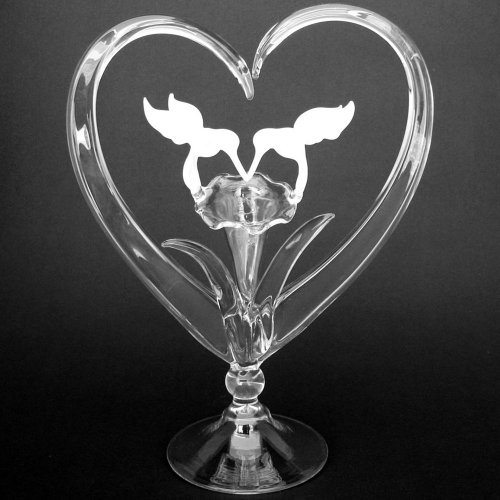 Hand Blown Glass Hummingbird Wedding Cake Topper by Prochaska Gallery