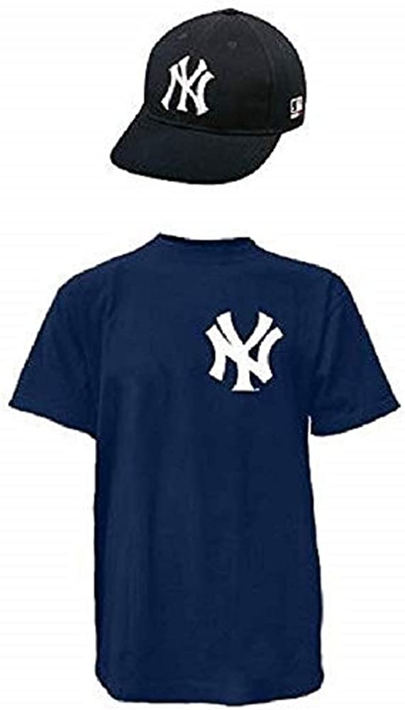 Majestic Athletic New York Yankees Licensed Cap & Jersey Combo Official Replica Youth and Adult