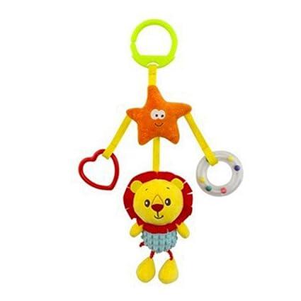 música DDG EDMMSlindo juguete campana suave muñeco de peluche animales del traqueteo del bebé del carro