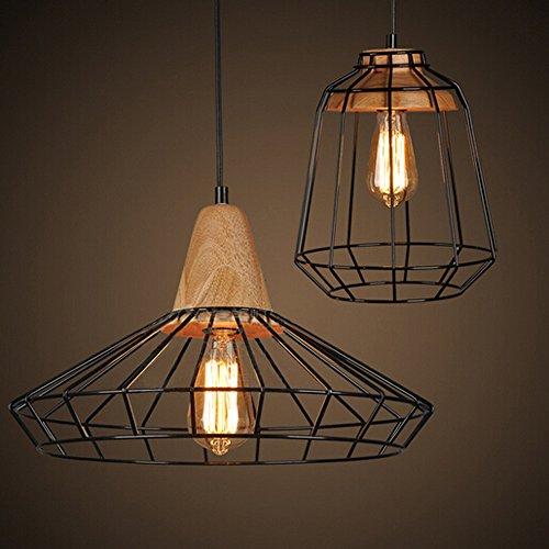 Winsoon vintage industrial diy metal ceiling lamp light pendant winsoon vintage industrial diy metal ceiling lamp light pendant lighting wooden head new amazon aloadofball Images