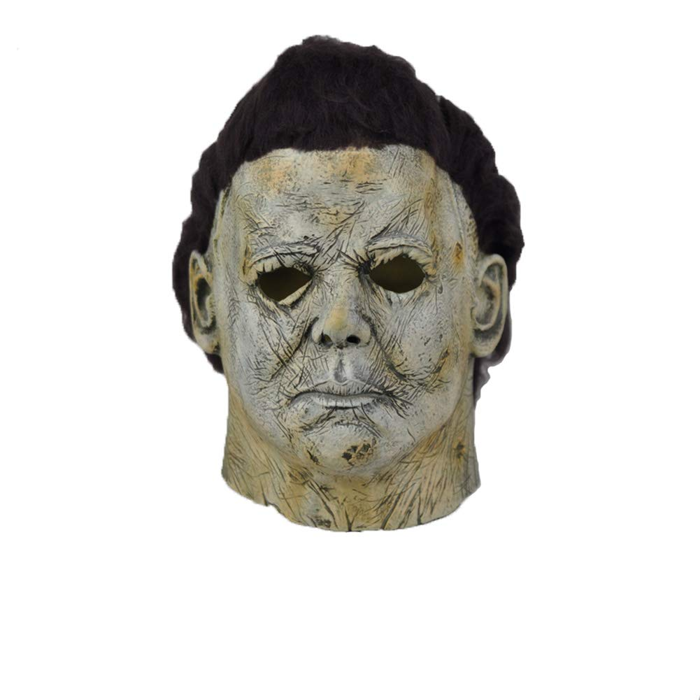 Xmecos Michael Myers Halloween Mask Cosplay Scary Horror Latex Masks Helmet Party Prop