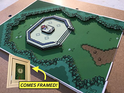 Legend Of Zelda: A Link To The Past Diorama (Framed Artwork) SNES - MasterSword by Popt Art
