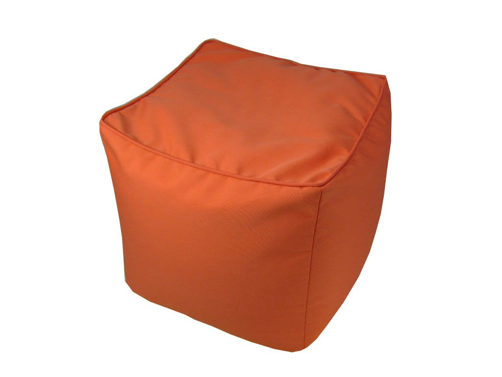 Lava Polyester Storage Ottomans Solid Sunbrella Canvas Logo Melon Pouf Indoor/Outdoor Pouf 17 In. 17 X 17 X 17 Inches Orange Model # 54131-836