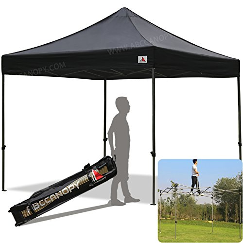 ABCCANOPY 30+colors Kingkong-series 10 X 10-feet Commercial Instant Canopy Kit Ez Pop up Tent,Bonus Carrying Bag,Black