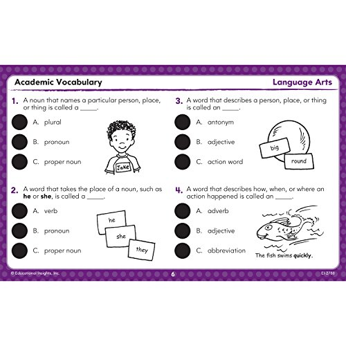 Amazon.com: Educational Insights Hot Dots Academic Vocabulary Card ...