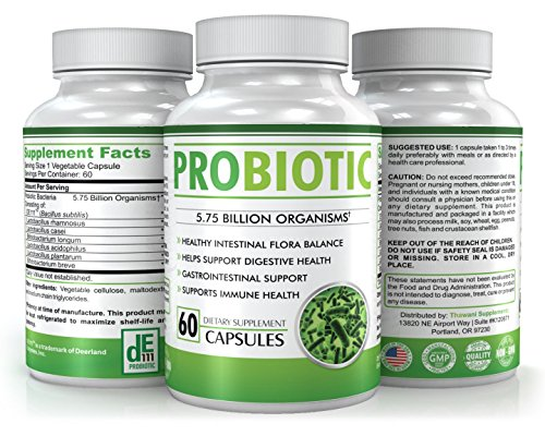 Best Probiotics Supplements – Multi Human Strain Incluing Lactobacillus Acidophilus – More than 5 Billion Living Microorganisms – Improve Your Digestion & Bowel Regularity – 60 Capsules Review