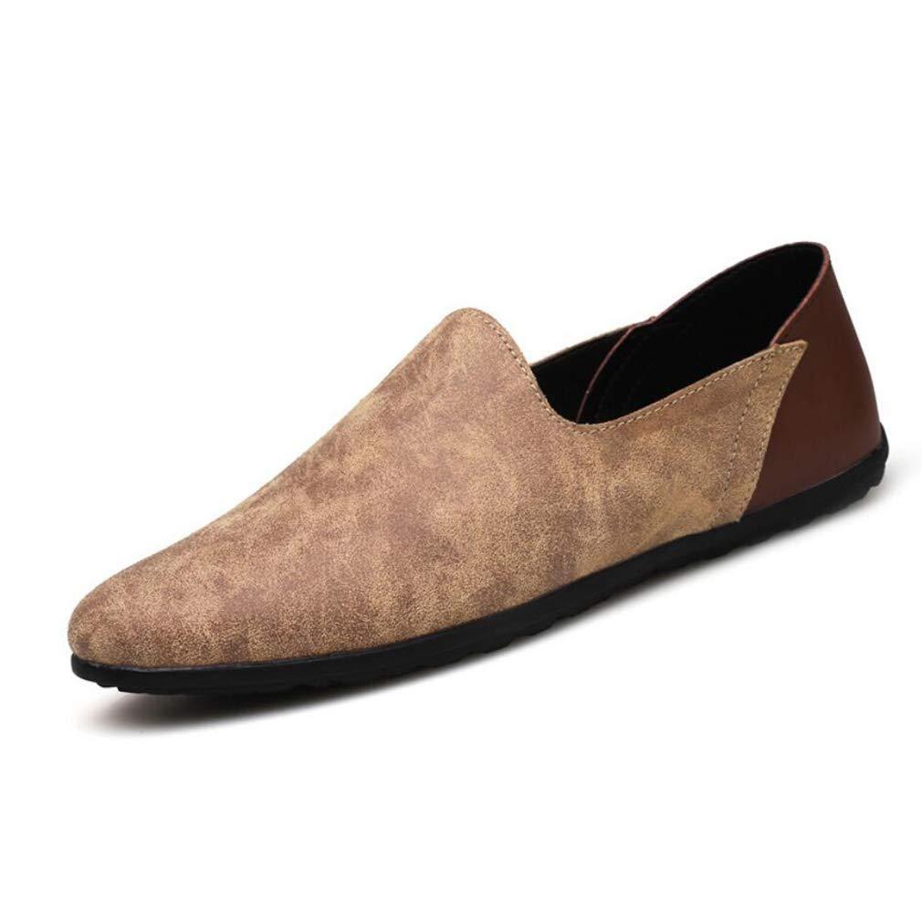 FuweiEncore Herrenschuhe Leder Frühjahr Herbst & Winter Winter Winter Komfort Loafers & Slip-Ons Spitz-Toe Fahren   Lazy schuhe (Farbe   C, Größe   42) a54997