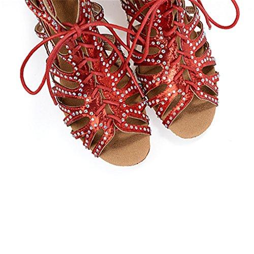 Donna Tacchi Balze Nero Rosso Cerniera Rocchetto Con Sneaker A Rosso Raso Argento Salsa Prestazioni Tacco tqRtrUx