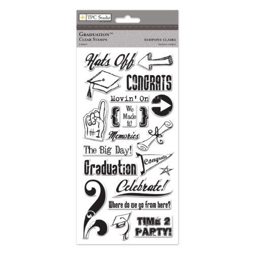 THE PAPER COMPANY, St 93437, Graduation Clear Stamps