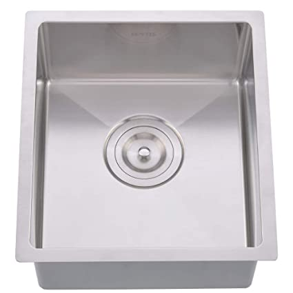 Hotis Commercial Stainless Steel Single Bowl Drop In 15 x 17 Inch ...