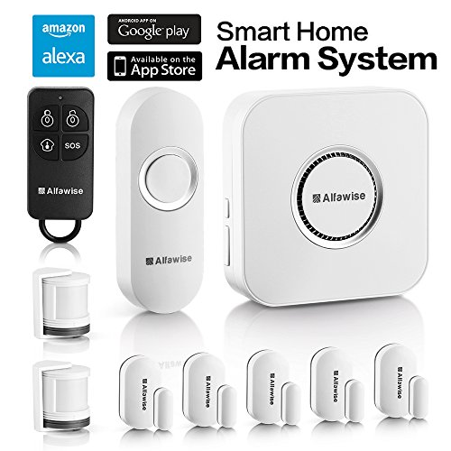 Alfawise Wireless Home Smart Security Alarm Door And Window Alarm System 2 4G Wifi Alexa Compatible 5 Modes Control Burglar Alert For Home Shop Security With Ip Camera Control By Smartphone
