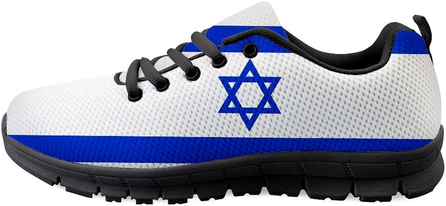 Owaheson Lace-up Sneaker Training Shoe Mens Womens Gem State Idaho Flag