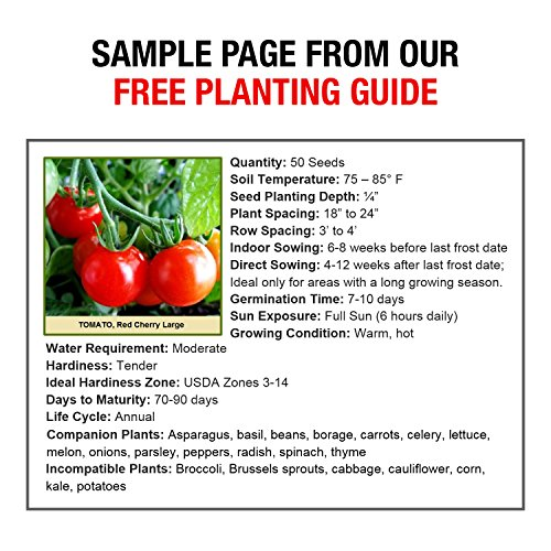 Non-GMO Heirloom Vegetable Seeds Survival Garden - 105 Varieties Cover All Hardiness Zones - Emergency Doomsday Supplies - Made In USA by Grow For It by Grow For It (Image #3)