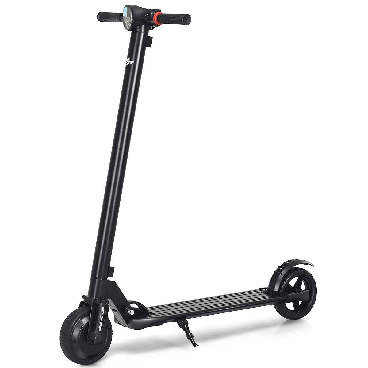 Goplus Foldable Electric Scooter, Ultra-Lightweight Portable Kick Scooter, 14 MPH Up to 6 Miles Long-Range Battery, Black by Goplus