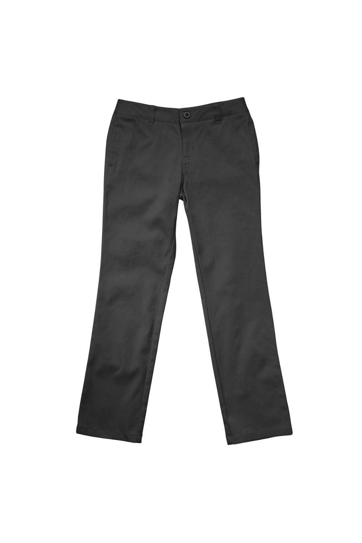 French Toast Big Girls' Straight Leg Pant, Grey, 12