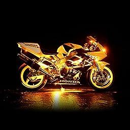 KapscoMoto Motorcycle 7 Color LED Accent Light Kit Remote For Harley Davidson Softail FXSTI Custom